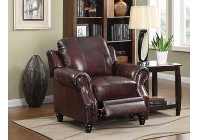 Princeton Dark Brown Tri-Tone Leather Chair