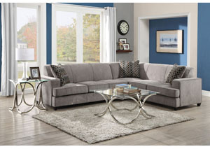 Grey & Black Sectional w/ Sleeper