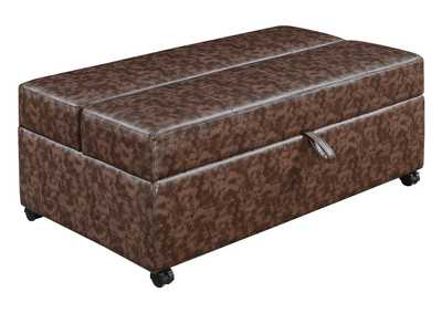Black Casual Dark Brown Sleeper Ottoman