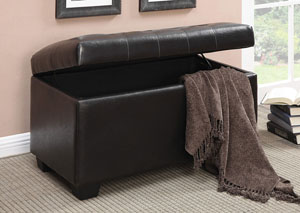 Image for Black Casual Dark Brown Ottoman