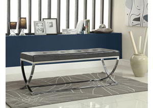 Black/Chrome Bench