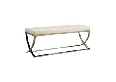 Chrome Contemporary Accent Dining Bench