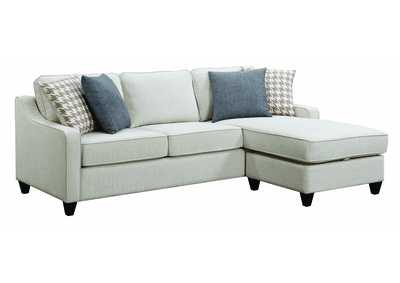 Montgomery Cream Sectional w/Storage