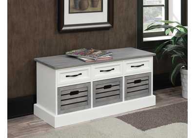 White/Grey Accent Cabinet