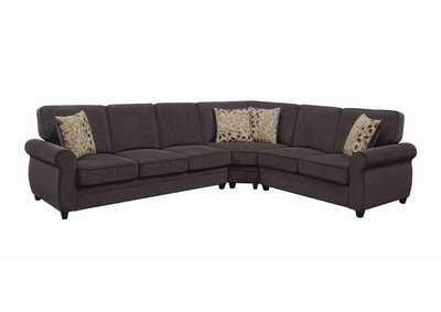 Image for Mine Shaft Kendrick Transitional Espresso Sectional