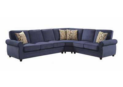 Image for Bright Gray Kendrick Transitional Blue Sectional