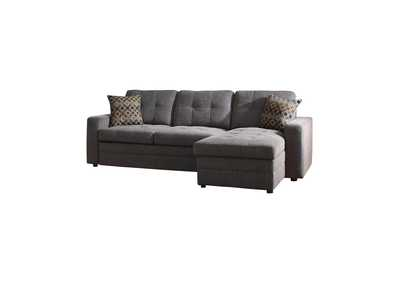 Gus Charcoal & Black Sleeper Sectional