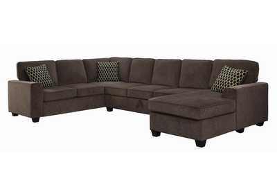 Image for Black Provence Transitional Brown Sectional