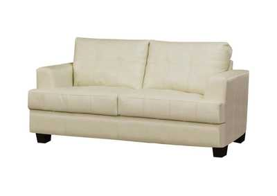 Image for Cappuccino Samuel Transitional Cream Loveseat