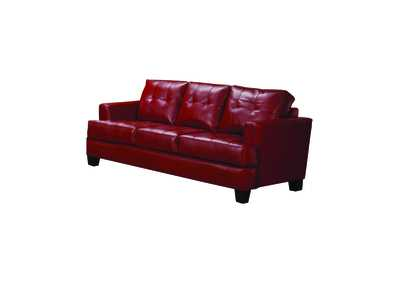 Image for Cappuccino Samuel Transitional Red Sofa