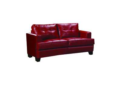 Image for Cappuccino Samuel Transitional Red Loveseat