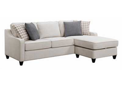 Image for McLoughlin Cream Upholstered Sectional