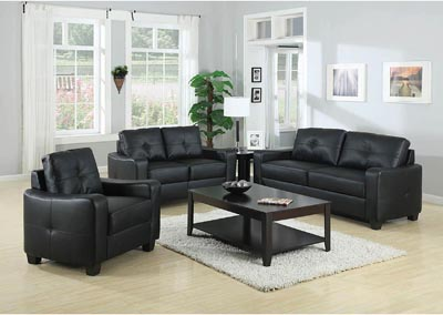 Jasmine Black Loveseat