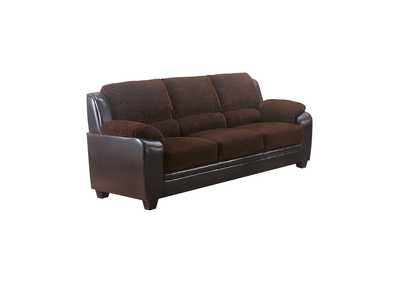 Image for Eerie Black Monika Transitional Chocolate Sofa