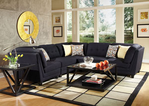 Keaton Blue Modular Sectional