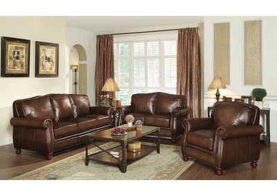Montbrook Hand Rubbed Brown Loveseat