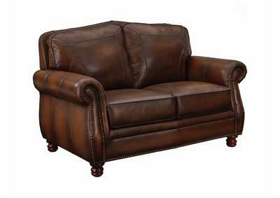 Image for Coffee Bean Montbrook Traditional Hand Rubbed Brown Loveseat
