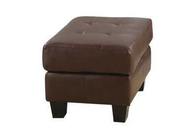 Image for Cappuccino Samuel Transitional Dark Brown Ottoman