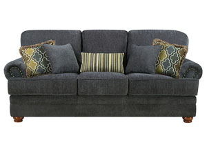 Image for Brown Colton Traditional Smokey Grey Sofa