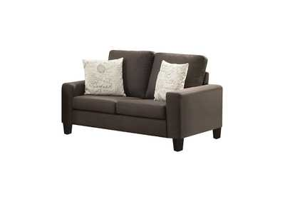 Image for Black Bachman Transitional Grey Loveseat
