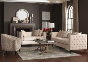 Brown Sofa & Loveseat