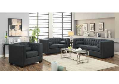 Cairns Charcoal Tufted Back Sofa