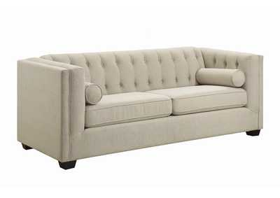 Image for Brown Cairns Transitional Oatmeal Sofa