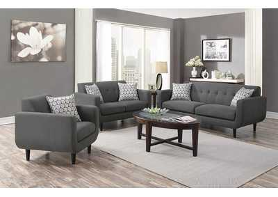 Stansall Chocolate Grey Loveseat