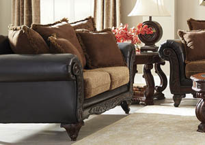 Garroway Russet and Chocolate Loveseat