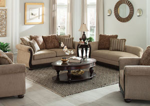 Beasley Brown Sofa and Loveseat