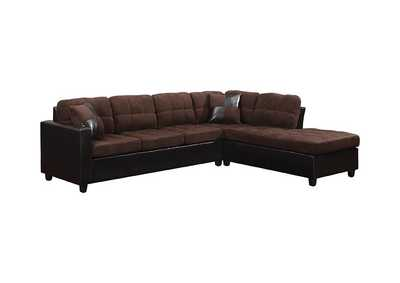 Image for Eerie Black Mallory Casual Chocolate Sectional