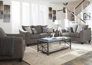 Salizar Grey Sofa and Loveseat