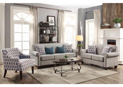 Image for Wood Grain Gideon Transitional Cement-Toned Loveseat
