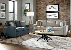 Light blue Sofa & Loveseat