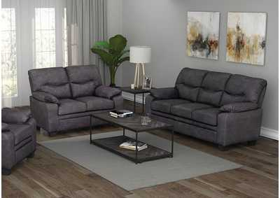 Meagan Charcoal Sofa & Loveseat