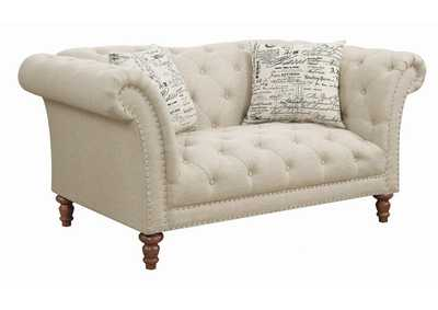Oatmeal Brown Loveseat