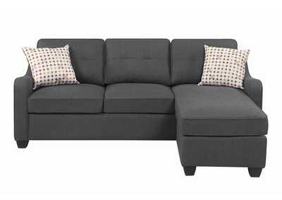 Dark Grey Reversible Sectional