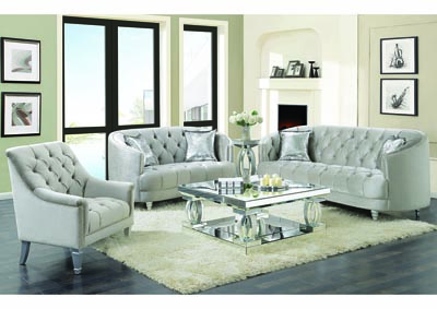 Silver Sofa & Loveseat