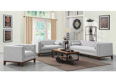 Celle Light Grey Sofa, Armchair, & Loveseat