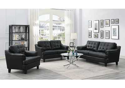 Freeport Black Sofa, Armchair, & Loveseat