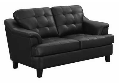 Image for Black Loveseat