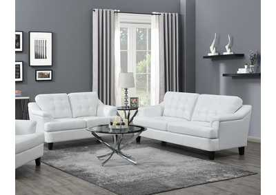 Freeport Snow White Sofa & Loveseat