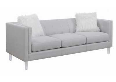 Light Grey Upholstered Sofa