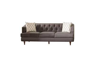Shelby Grey & Brown Sofa