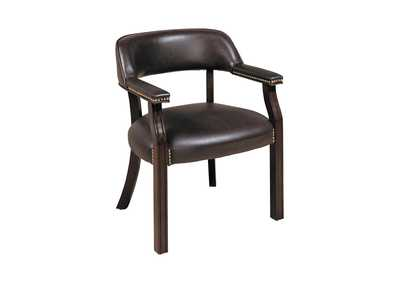 Image for Mine Shaft Burgundy Leatherette Office Chair