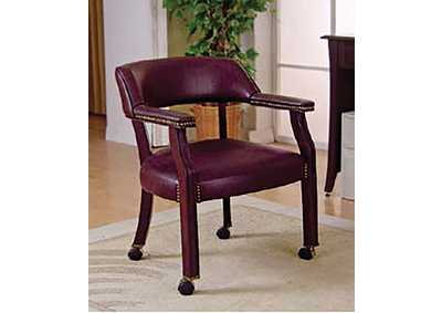 Burgundy & Dark Cherry Office Chair