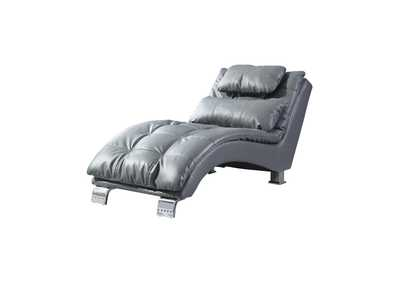 Image for Chrome Dilleston Contemporary Grey Chaise