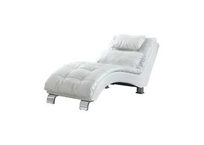 Image for Chrome Dilleston Contemporary White Chaise