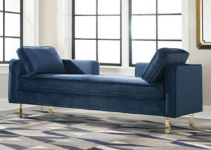 Image for Pickled Bluewood Modern Navy Double Chaise