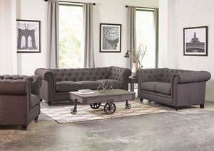 Grey Sofa and Loveseat